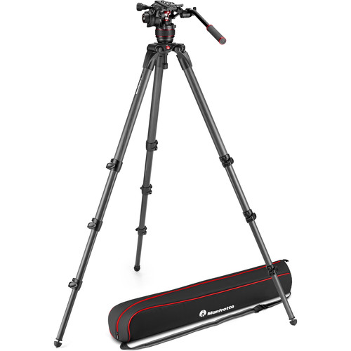 Manfrotto 608 Nitrotech Fluid Video Head and 536 Carbon Fiber Single Leg Tripod