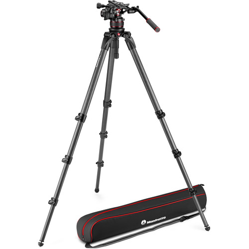 Manfrotto 612 Nitrotech Fluid Video Head and 536 Carbon Fiber Single Leg Tripod