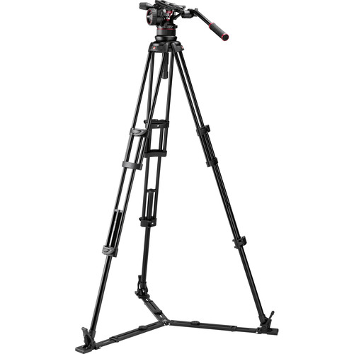 Manfrotto Nitrotech N12 & 545GB Dual-Leg Tripod System with Half Ball Adapter & Bag