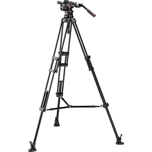 Manfrotto Nitrotech N12 & 545B Dual-Leg Tripod System with Half Ball Adapter & Bag