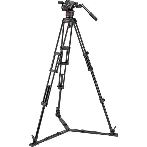 Manfrotto Nitrotech N8 Video Head & 546GB Pro Tripod with Ground Spreader