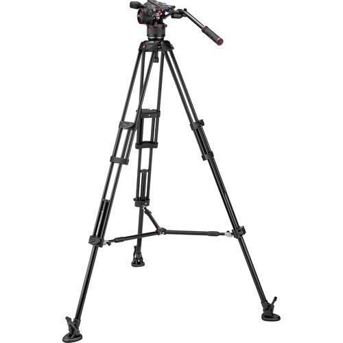 Manfrotto Nitrotech N8 Video Head & 546B Pro Tripod with Mid-Level Spreader