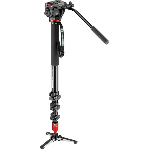 Manfrotto MVM450A Aluminum Video Monopod and Fluid Head with Rapid Connect RC2