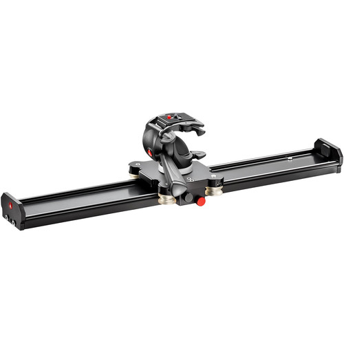 "Manfrotto Aluminum Camera Slider with 3-Way Head (24"")"