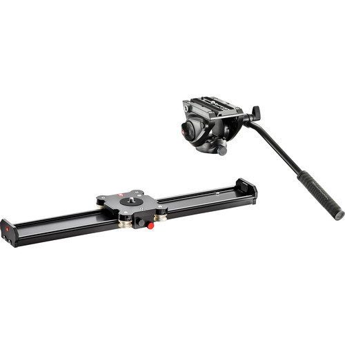 "Manfrotto Camera Slider 60cm and MVH500AH Fluid Head Kit (23.6"")"