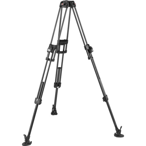 Manfrotto Fast Twin Leg Video Tripod Legs with Ultra L-Lock and Mid-Level Spreader (Carbon Fiber)