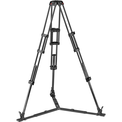 Manfrotto Carbon Fiber Twin Leg Video Tripod Legs with Ground Spreader (100/75mm Bowl)