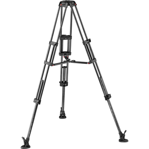 Manfrotto Carbon Fiber Twin Leg Video Tripod Legs with Mid-Level Spreader (100/75mm Bowl)