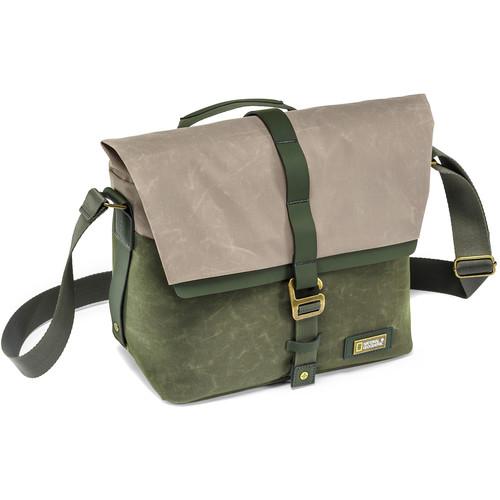 National Geographic NG Rain Forest Camera Messenger Bag (Small, Green)