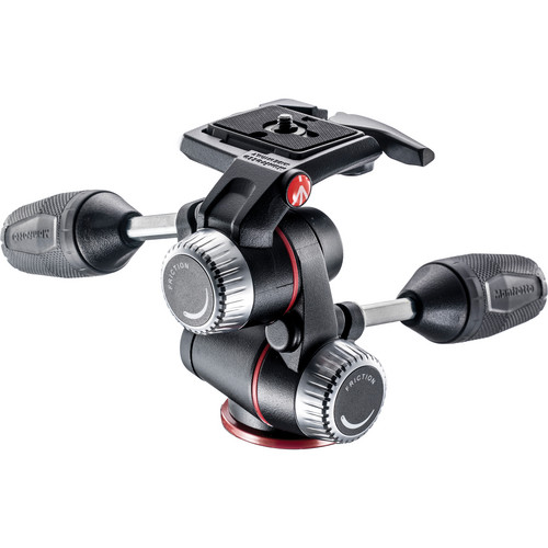 Manfrotto X-PRO 3-Way Head with Quick Release and QR Plate