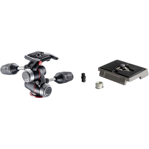 Manfrotto XPRO 3-Way, Pan-and-Tilt Head Kit with 200PL-14 and 200PL Quick Release Plates