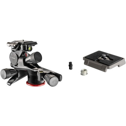 Manfrotto XPRO 3-Way, Geared Pan-and-Tilt Head Kit with 200PL-14 and 200PL Quick Release Plates