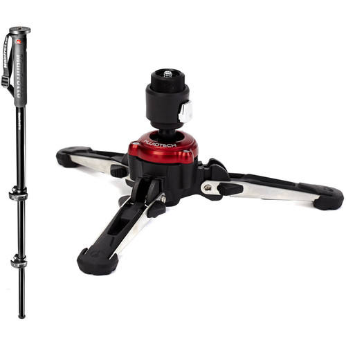 Manfrotto XPRO MPMXPROA3US Aluminum Monopod with XPRO Fluid Base Kit
