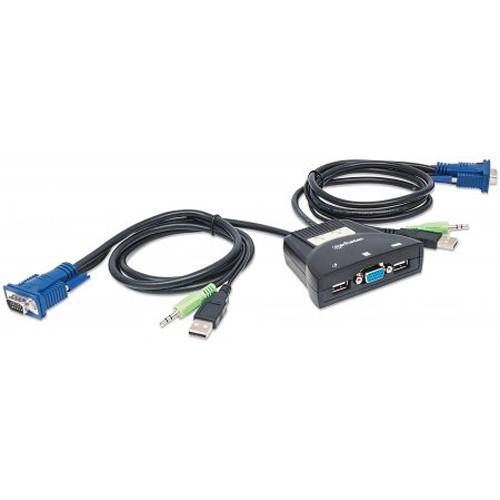 Manhattan 2-Port Mini KVM Switch