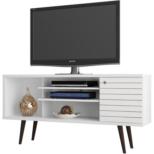"Manhattan Comfort Liberty 53.14"" Mid-Century Modern TV Stand (White)"