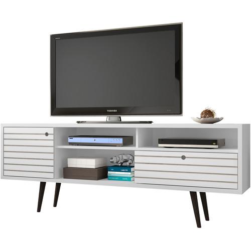 "Manhattan Comfort Liberty 70.87"" Mid Century-Modern TV Stand (White)"