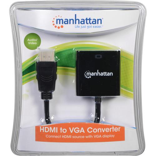 Manhattan HDMI to VGA Converter (Black)