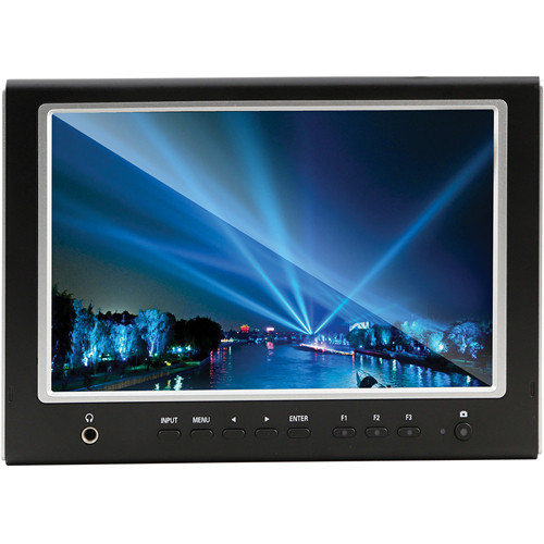 "Manios Digital & Film MFM-777S 7"" LED On-Camera HDMI Monitor (Gold-Mount Battery Adapter)"
