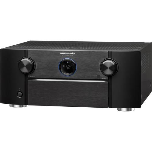 Marantz AV7703 11.2-Channel Network A/V Preamplifier with HEOS 3 Series 2 Wireless Speaker Kit (Black)