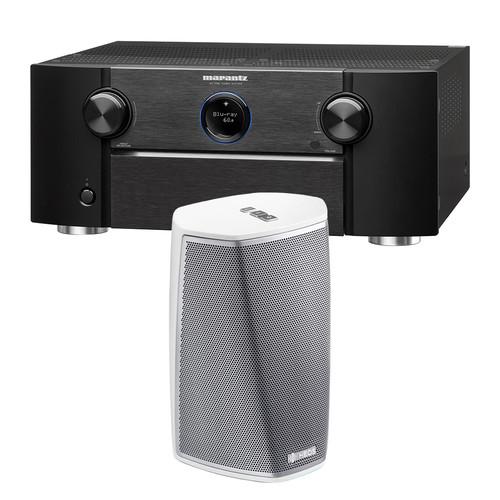 Marantz AV7703 11.2-Channel Network A/V Preamplifier with HEOS 1 Series 2 Wireless Speaker Kit (White)
