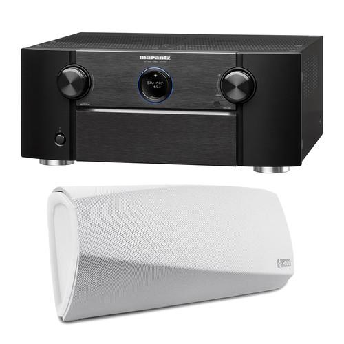 Marantz AV7703 11.2-Channel Network A/V Preamplifier with HEOS 3 Series 2 Wireless Speaker Kit (White)