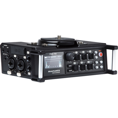 Marantz Professional 6-Channel DSLR Recorder with up to 96 kHz/24-Bit Resolution