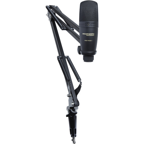 Marantz Professional Pod Pack 1 USB Microphone with Broadcast Stand & Cable Kit