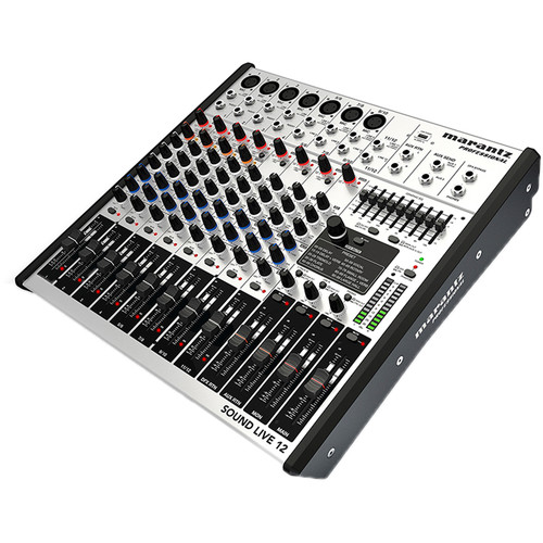 Marantz Professional Sound Live 12 - 12-Channel/ 2-Bus Tabletop Mixer with USB