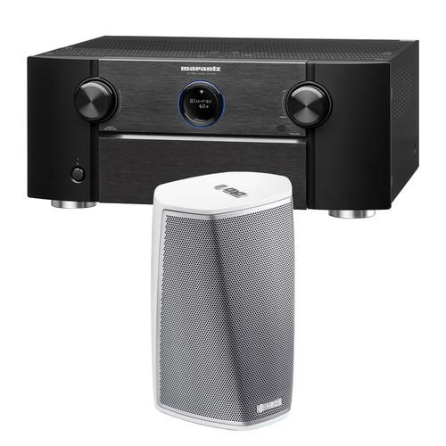 Marantz SR7011 9.2-Channel Network A/V Receiver with HEOS 1 Series 2 Wireless Speaker Kit (White)