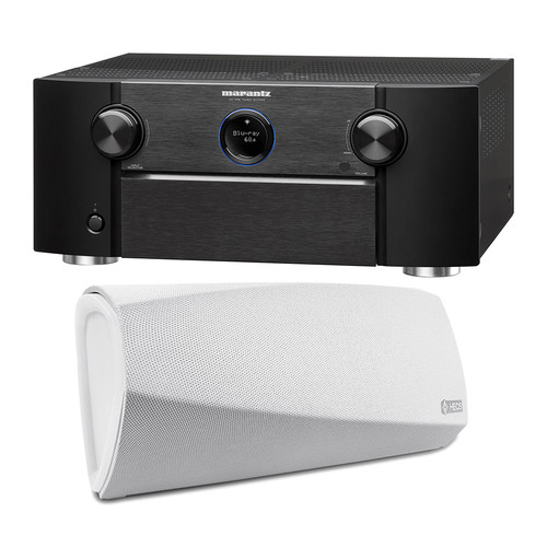 Marantz SR7011 9.2-Channel Network A/V Receiver with HEOS 3 Series 2 Wireless Speaker Kit (White)
