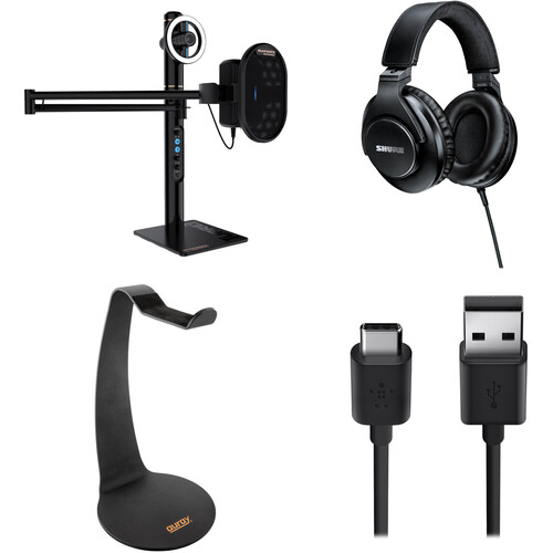 Marantz Professional Turret Broadcaster Video-Streaming System Kit with Audio-Technica ATH-M40x Headphones