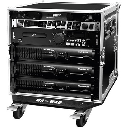 Marathon Flight Road 10U Deluxe Amplifier Rack Case with Wheels