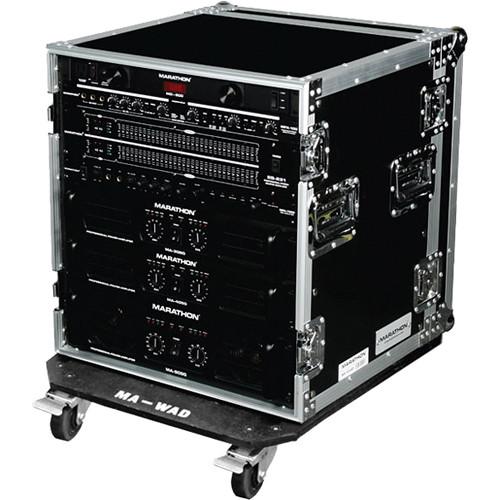 Marathon MA-12UADW Flight Road 12U Amplifier Case with Wheels
