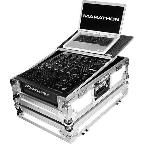 Marathon White Series Flight Road Case with Laptop Shelf for Pioneer DJM-900 Nexus Club Mixer