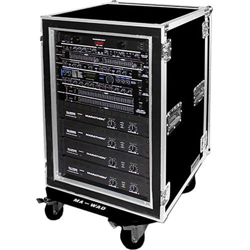 Marathon Flight Road Case 18U Shock Mount and Amplifier Deluxe Case