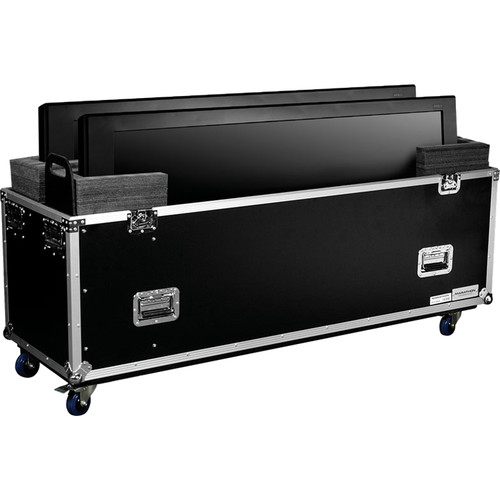 "Marathon MA-2PLASMA32W Universal Flight Road Case for Two 32"" Monitors"