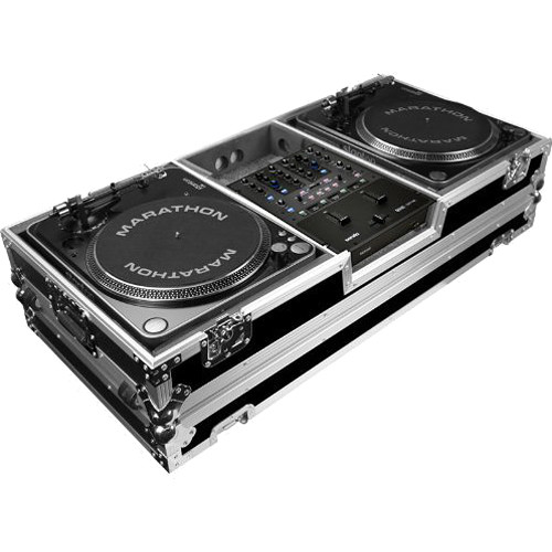 Marathon MA-2PLATMHW Dual Lighting Case with Casters