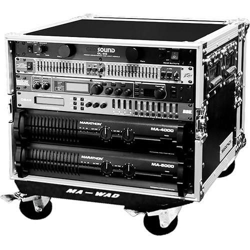 Marathon MA-8UADW Flight Road 8U Amplifier Case with Wheels