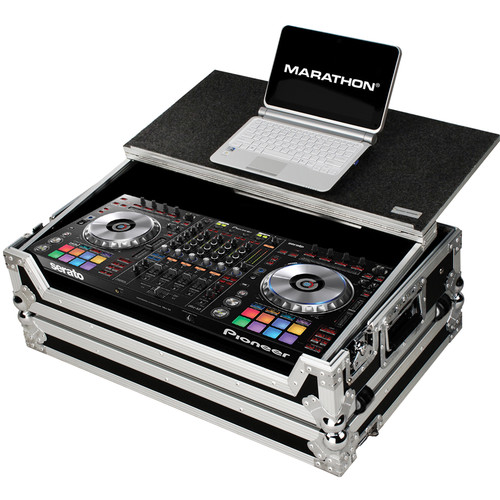 Marathon Flight Case with Sliding Shelf and Wheels for Pioneer DDJ SZ Serato Controller