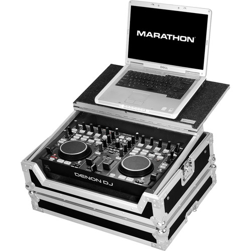 Marathon MA-DNMC3000LT Case to Hold Denon DN-MC3000 Controller (with Laptop Shelf)