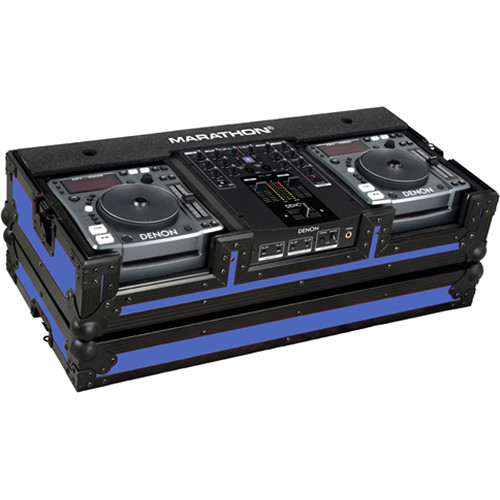 Marathon MA-DNSX1200BLKBLUE Flight Road CD Player Case (Black and Blue)