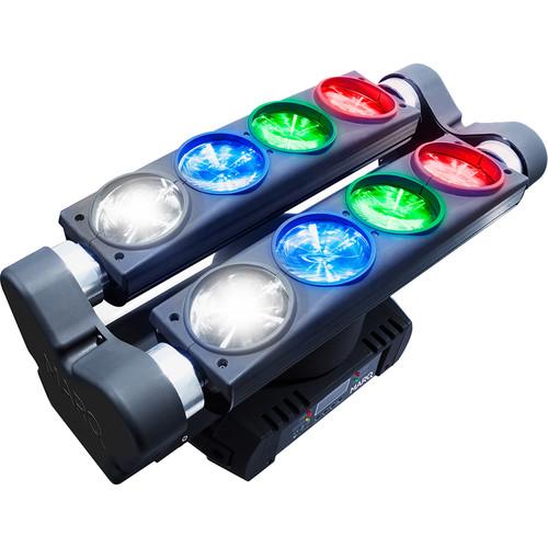 MARQ Ray Tracer X Quad Dual-Tilt/Dual Roller RGBW Multi-Beam Light on Rotating Base