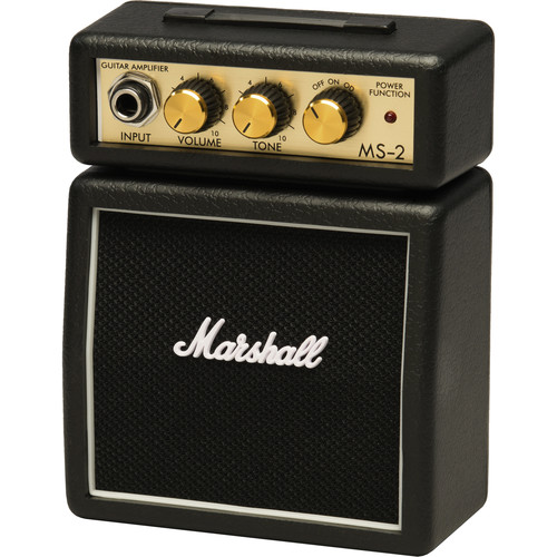Marshall Amplification MS-2 Micro Amp - Mini Practice Amp (Black)