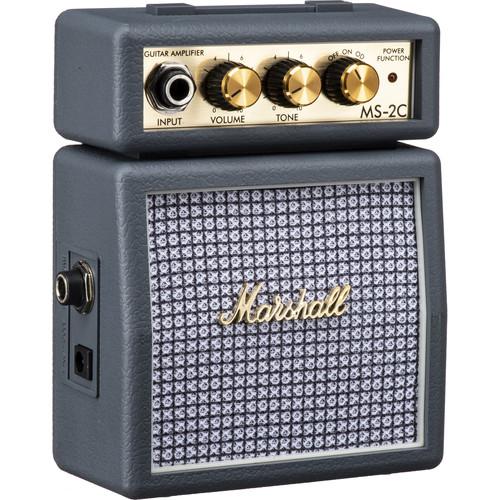 Marshall Amplification MS-2C Micro Amp - Mini Practice Amp (Vintage Gray)