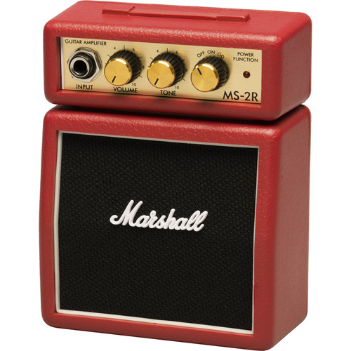 Marshall Amplification MS-2R Micro Amp - Mini Practice Amp (Red)