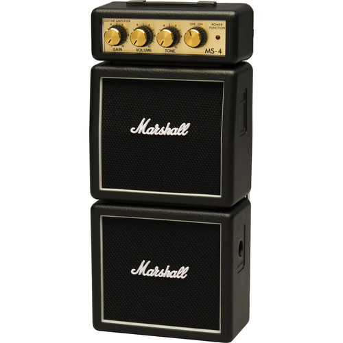 Marshall Amplification MS-4 Micro Stack - Mini Practice Amp (Black)