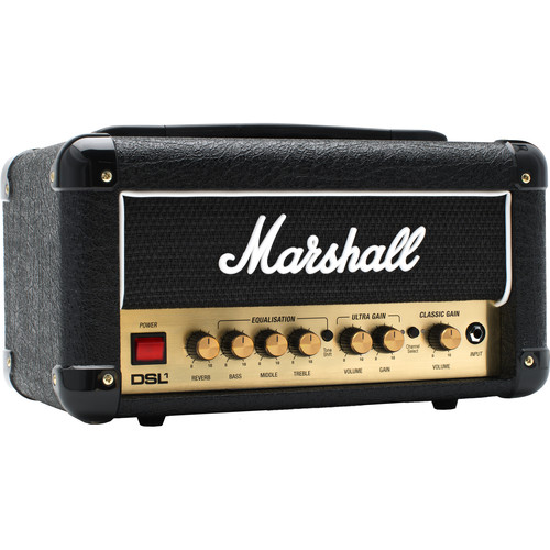 Marshall Amplification DSL1HR 1W 2-Channel Valve Amplifier Head with Reverb