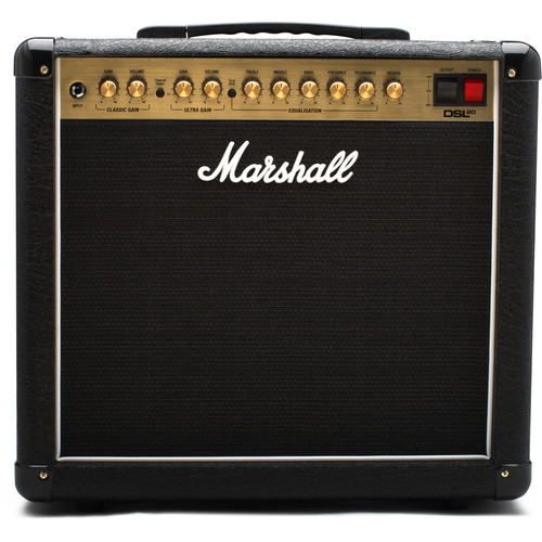 Marshall Amplification DSL20CR 2-Channel Valve Combo Amplifier with Variable Output (20W)
