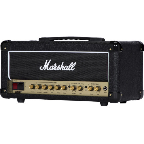 Marshall Amplification DSL20HR 2-Channel Valve Amplifier Head with Variable Output (20W)