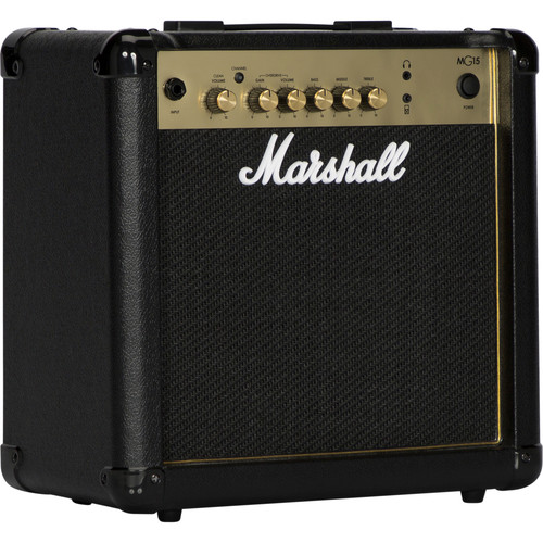 Marshall Amplification MG15G 4-Channel Solid-State Combo Amplifier with MP3 Input (15W)